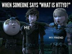 This is hilarious. Only my friends would join me in explaining the awesomeness of HTTYD! XD