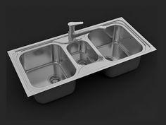 3ds max tutorial, modeling kitchen sink