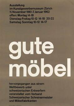 RUDOLF BIRCHER (1911- ?) GUTE MÖBEL. 1962 - Designer of the Swissair logo