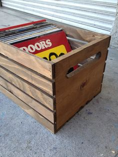 Hand Built Record Crate by recirclematter on Etsy, $30.00