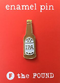 IPA Beer Pin Craft Beer Soft Enamel Pin Lapel por thefoundretail