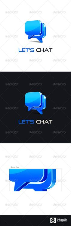 Social Media Logo  Let's Chat — Photoshop PSD #sociable #chat • Available here → https://graphicriver.net/item/social-media-logo-lets-chat/1143245?ref=pxcr