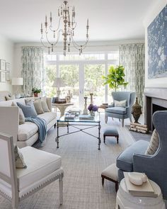 Interior design trends are always right for those of you who are invited to always update with the most applicable design in your home. One of the most trending living room design is the Coastal living room. The interior design… Continue Reading → Elegant Living Room, Coastal Living Rooms, Formal Living Rooms, Living Room Interior, Modern Living, Cozy Living, Small Living, Luxury Living, Blue And White Living Room