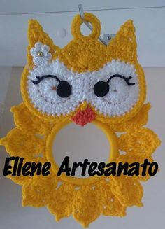 s media cache originals 32 60 18 Crochet Owls, Crochet Potholders, Crochet Poncho, Crochet Animals, Crochet Flowers, Crochet Kitchen, Crochet Home, Crochet Gifts, Crochet Applique Patterns Free