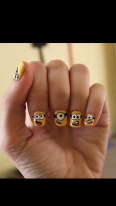 despicable me nails- these would be the best nails ever!!!