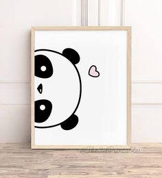 Ideas for Decorating a Bedroom in a Panda Theme Small Canvas Art, Mini Canvas Art, Diy Canvas, Niedlicher Panda, Cute Panda, Panda Art, Panda Kindergarten, Panda Lindo, Panda Painting