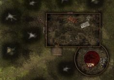 17x12 Roll20] Cabin in Woods : battlemap by Stryxin Tabletop rpg maps Fantasy map Cabins in the woods