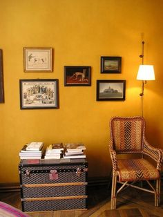 Paint Color Portfolio: Mustard Living Rooms glidden mustard seed GLDY30
