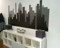 Check out DIY Painted Skyline with Shelving on the IKEA Share Space Blog.