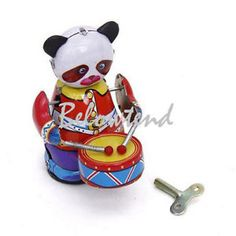Classic Wind Up Panda Drummer Mechanical Toy Kid Child Birthday Party Favor | eBay