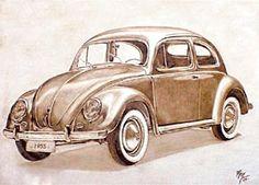 El arte de pintar autos con brea