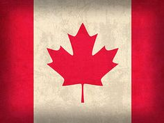 Canada Flag Art - Canada Flag Vintage Distressed Finish by Design Turnpike