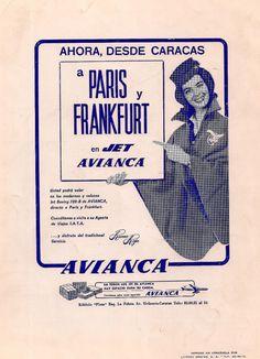 AVIANCA hacia Frankfurt, vía Caracas y París