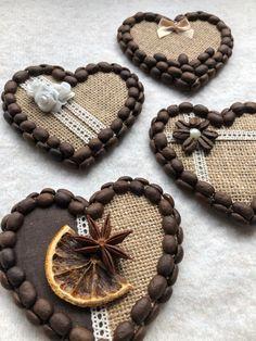Jute Crafts, Wood Crafts, Diy And Crafts, Handmade Kitchens, Handmade Home, Handmade Gifts, Coffee Heart, My Coffee, Coffee Bean Art