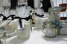These candles by Cookham Candle Company are especially popular, and our customers love the fact that they're supporting a local business.  http://www.cookhamcandles.co.uk/