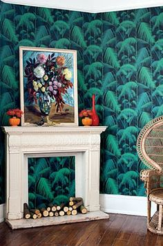 Cole  Son - Contemporary Restyled - Palm Jungle Wallpaper- Rocket St george