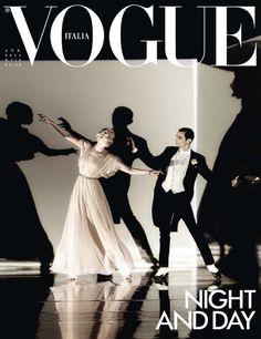 Vogue Italia April 2015 An Undiscovered Musical Photographer: Steven Meisel Stylist: Karl Templer Models: Karen Elson & Christopher Niquet Make-Up: