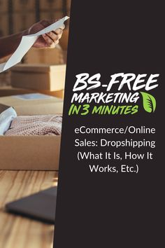 BS-Free Marketing - E-Commerce/Online Sales: Dropshipping (What it is, how it works, etc. Editing Writing, Writing A Book, Social Media Marketing Agency, Digital Marketing, Campaign Logo, Blurb Book, Free Market, Book Design Layout, Social Media Design