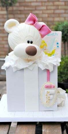 Teddy Bear in Box Cake
