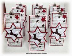 weihnachten in der tte 15 Minuten Wei - Stampin Up Christmas, Christmas Tag, Christmas Crafts, 15min Weihnachten, Friend Scrapbook, Hand Made Greeting Cards, Creative Gift Wrapping, Craft Show Displays, 3d Paper Crafts