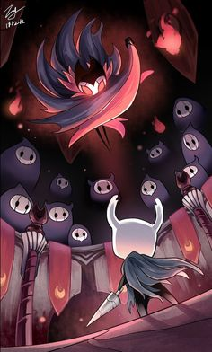 Hollow Knight: The Grimm Troupe Character Art, Character Design, Knight Tattoo, Team Cherry, Hollow Night, Hollow Art, Knight Games, Knight Art, Fan Art