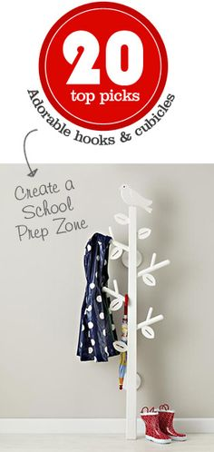20 adorable & kid-friendly hooks and cubicles for creating a school prep zone