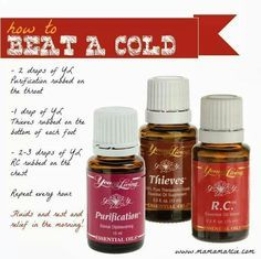 How to beat a cold with Young Living Essential Oils AMomAndHerOils@gmail.com