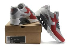 finest selection c5549 bb890 Nike Air Max 90 Hyperfuse Mens Red Grey via MFancy Boutique. Click on the