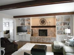Built Ins Around Stone Fireplace Exactly What I Want