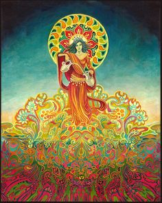 Temperance Tarot Goddess of Harmony Psychedelic by EmilyBalivet