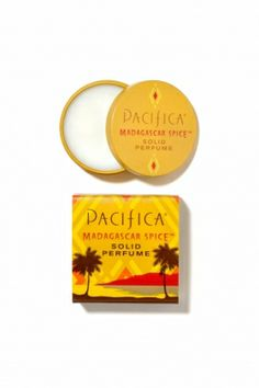 A modern take on the most ancient form of fragrance, Pacifica's dazzling new Solid Perfumes are made with organic soy and coconut wax and Pacifica's signature perfume blends with essential and natural oils. Warm and intoxicating in Madagascar Spice, they're adorable, affordable, totally portable and perfect for layering!