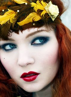 Avant Garde Eye Makeup   The colour up near your eyebrow needs to be blended with a light ...