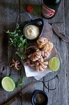 Lignje sa sol i papar {squid with salt + pepper} (He Needs Food) (with recipe)