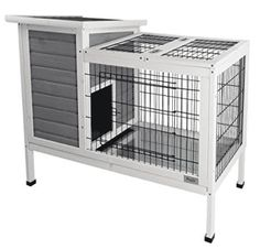 Petsfit Rabbit Hutch Grey, Guinea Pigs Cage, Bunny Hutch Wood for Indoor Use Rabbit Cages, Bunny Cages, Cat Cages, Rabbit Hutch Indoor, Guinea Pig Accessories, Dwarf Bunnies, Bunny Hutch, Rabbit Life, Baby Guinea Pigs