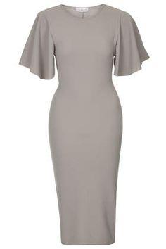 **Midi Cape Sleeve Dress by Rare
