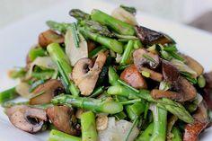 Marinated Mushroom & Asparagus salad with zucchini and turnip