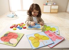 Magnetic Matching colors game by Haba Fall Crafts For Kids, Toddler Crafts, Diy For Kids, Montessori Activities, Infant Activities, Activities For Kids, Baby Toys, Kids Toys, Diy Toys And Games