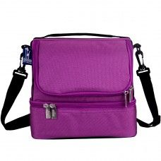 Kids Lunch Box & Bag: Orchid Double Decker Lunch Bag