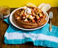 Vegan Apple Cinnamon Candied Ginger Waffle