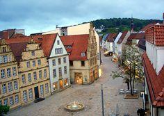bielefeld with no people. Bielefeld, NRW, Germany.