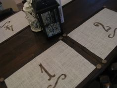 Ashley's Burlap Placemats