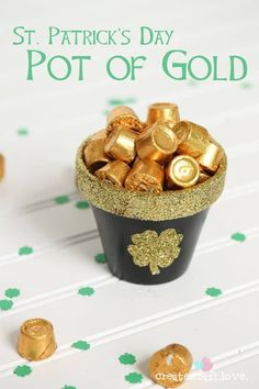 Whip up this adorable DIY Pot of Gold for your St. Patrick