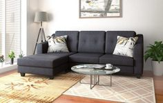 11 Amazing L Shaped Sofa Designs in India. I have covered corner sofa for both Small and Large Living Rooms. Living Room Decor Modern, L Shaped Sofa, Sofa Design, Living Room Designs, L Shaped Sofa Designs, Interior, Large Living Room, Room, Room Decor