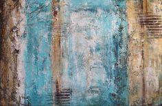 """sunny blue"" by mmaiaart, 2014 , Original Paintings, Original Art, Acrylic Paintings, Visual Aesthetics, Creative Icon, Blue Canvas, Background Vintage, Blue Art, Blue Stripes"