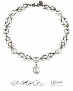 Swarovski Crystal Pear Drop Necklace by Anne Koplik