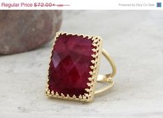 25% OFF SALE Ruby ringJuly birthstone by AnemoneJewelry on Etsy
