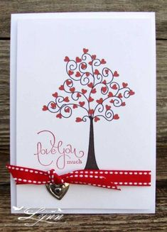 Hearts and Valentines by jimlynn - Cards and Paper Crafts at Splitcoaststampers | #handmade #valentine #card
