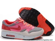 Discounts Mens 314232-991 Graphite Light Grey Pink Infrared Nike Air Max 1