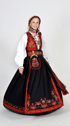 """knightofleo: """"Regional Versions of Bunad, Norwegian Traditional Outfit Happy Birthday, Norway of May) """" Folk Fashion, Ethnic Fashion, Norwegian Clothing, Scandinavian Embroidery, Style Ethnique, Frozen Costume, Fantasy Costumes, Folk Costume, Historical Clothing"""