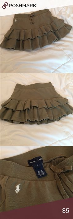 Size 4 children's skirt Olive green Ralph Lauren skirt Ralph Lauren Bottoms Skirts